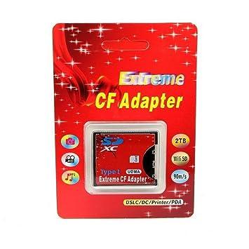 RGBS SD SDHC SDXC de alta velocidad extrema tipo Compact Flash CF I adaptador de tarjeta de memoria UDMA apoyo 16/32/64/128 GB