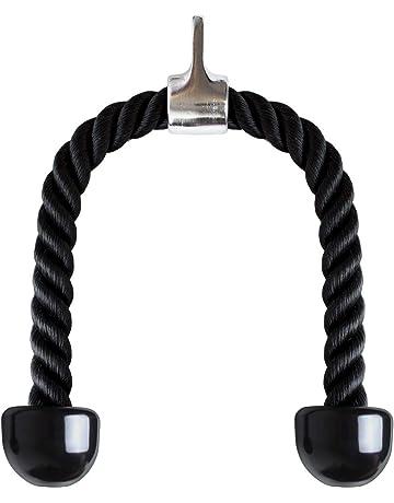 CampTeck U6935 - Nylon Triceps Cuerda Triceps Polea Desplegable Manijas Antideslizantes - Dorsal, Biceps,