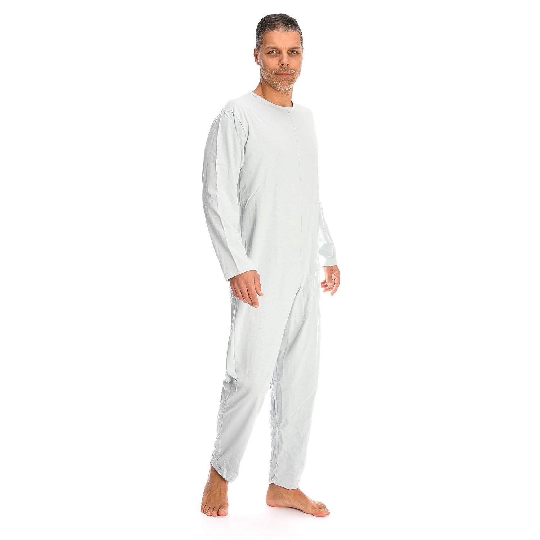 Rekordsan Pijama Antipa/ñal Geri/átrico Classic Hombre En Fresco Algod/ón Con 1 Cremallera Color Gris Talla 5-1 unidad