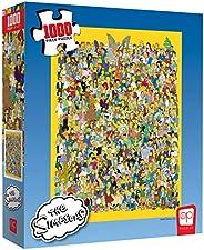 USAopoly Puzle de 1000 Piezas The Simpsons Cast of Thousands | Producto Oficial de Simpsons | Rompecabezas Col