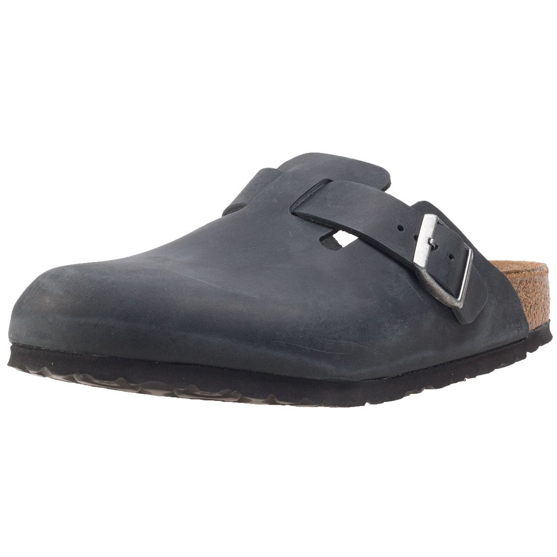 Birkenstock Boston Narrow Fit Unisex Sandals Black Anthracite - 39 EU by Birkenstock