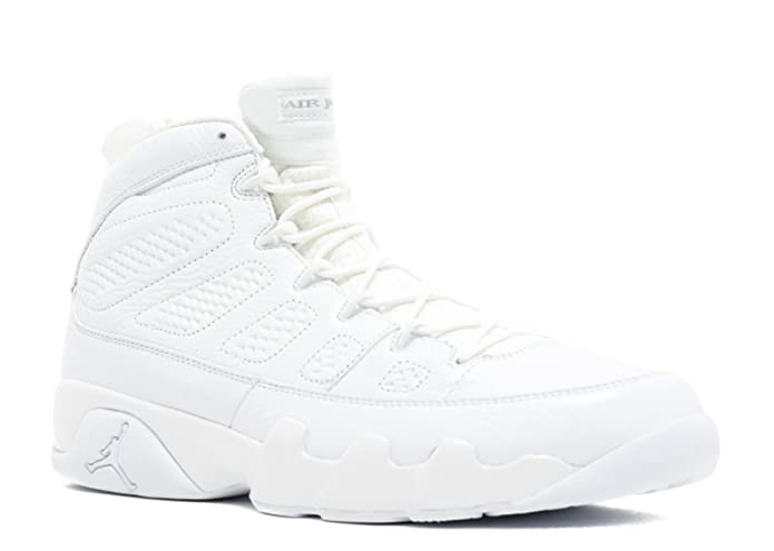 the best attitude 6717f b75c9 Amazon.com   Air Jordan 9 Retro  25Th Anniversary  - 302370-104 - Size 9.5  White, Metallic Silver   Basketball