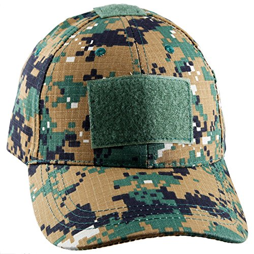 moonsix Tactical Caps for Men,Military Style Camouflage Operator Hats Hunting Army Hat Baseball Cap(Green Digital Camo) ()