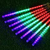 Clearance Sale!DEESEE(TM)Party LED Lights Meteor Shower Rain Snowfall Xmas Tree Garden Outdoor (Multicolor)