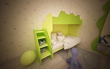 MOBILFINO CAMERETTE Kinderzimmer komplett Hochbett mit Gradinata und ...