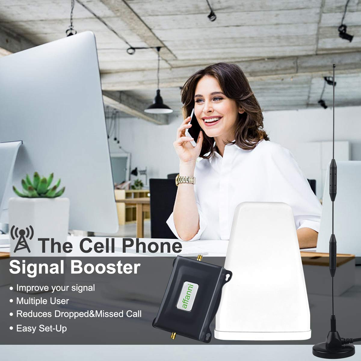 Boost 4G Data/&Voice Verizon Cell Phone Signal Booster 4G LTE Band 13 FDD 700Mhz Cell Phone Booster Verizon Cell Signal Booster Repeater Mobile Phone Signal Booster Amplifier Antennas Kits for Home