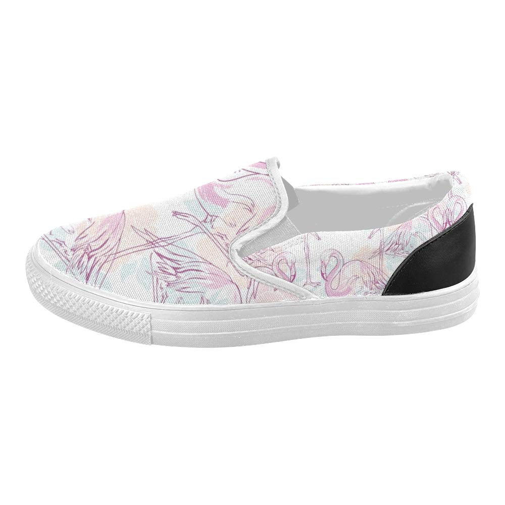 Shoes for Men Canvas Beautiful Tropical Pattern Canvas Slip-on Casual Printing Comfortable Low Top Mens Shoes Slip On Sneakers