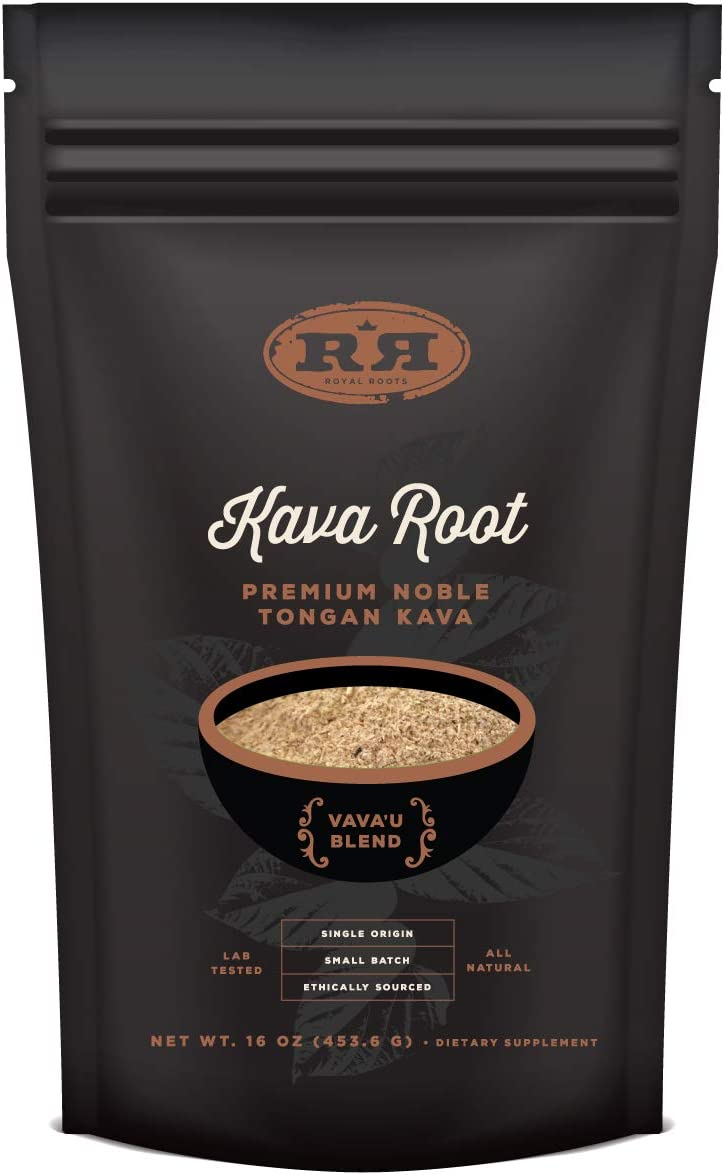 Kava Root Powder – Tongan Noble Premium Natural Kava Drink, Vava U Blend, 16oz