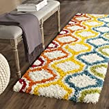 Safavieh Kids Shag Collection SGK561A Ivory and Multi Area Rug (2'3' x 5')
