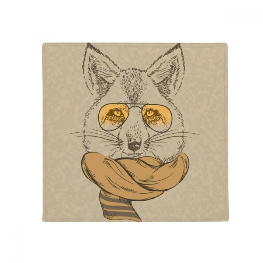 DIYthinker British Style Animal Gentle Wolf and Scarf Animal Anti-Slip Floor Pet Mat Square Home Kitchen Door 80Cm Gift