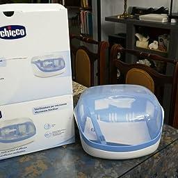 Chicco - Esterilizador microondas de hasta 5 biberones en 3 ...