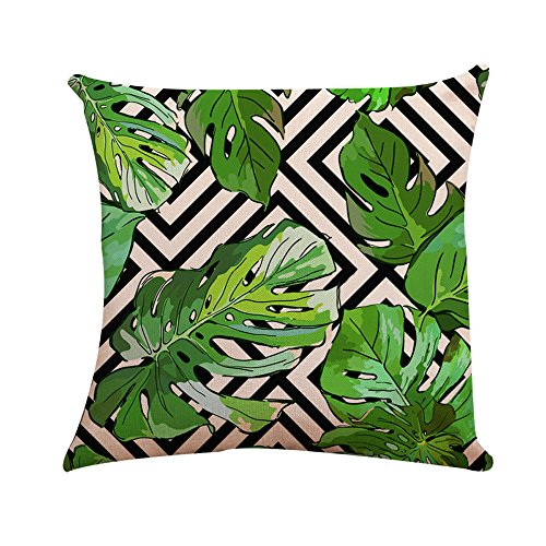 Price comparison product image Makeupstore Modern Square Pillow Cover Cushion Case Toss Pillowcase Hidden Zipper Closure,  Decorative Throw Pillow Cases Cushion Cover for Home Sofa Bedding Bed Car Seats Decor