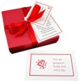 'Sweet Nothings' - a handmade gift set of 52 little love compliment cards. A box full of love to last the whole year through! The perfect 1st Anniversary paper gift or romantic keepsake for him or her. Gift wrapped & personalized to order.