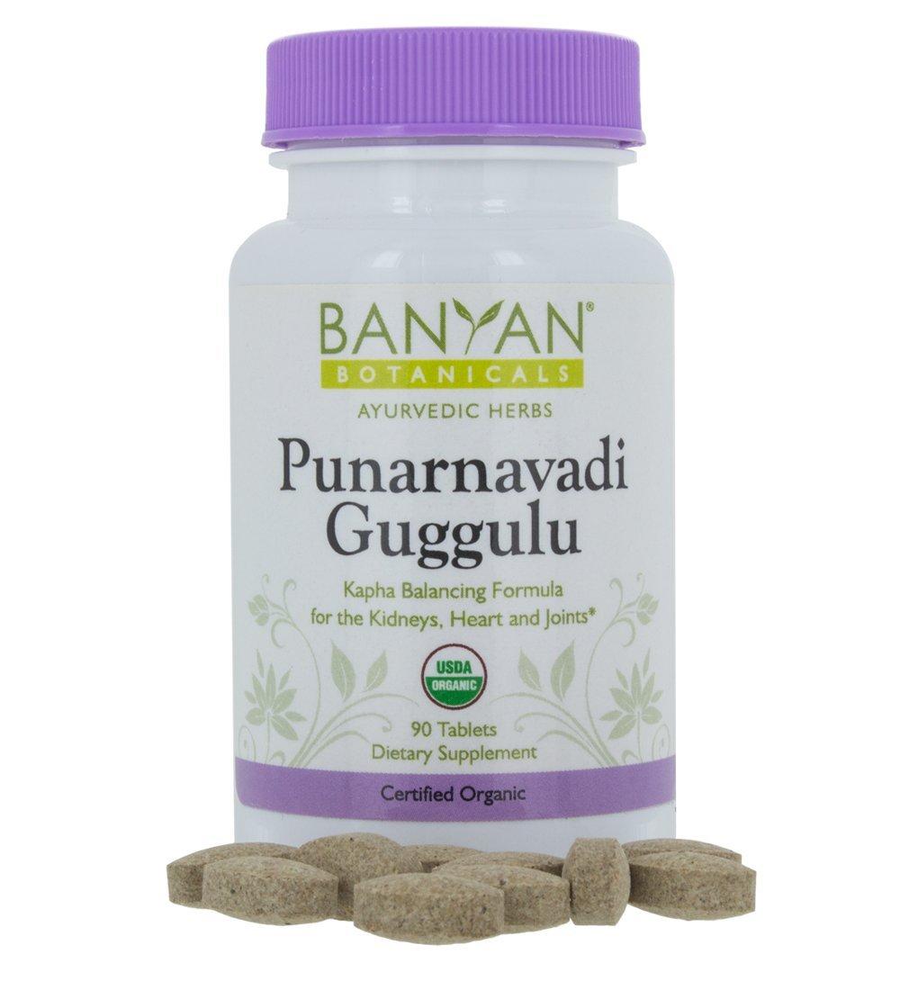 Banyan Botanicals Punarnavadi Guggulu - Certified Organic, 90 Tablets - Kapha Balancing Formula for the Kidneys, Heart, and Joints by Banyan Botanicals