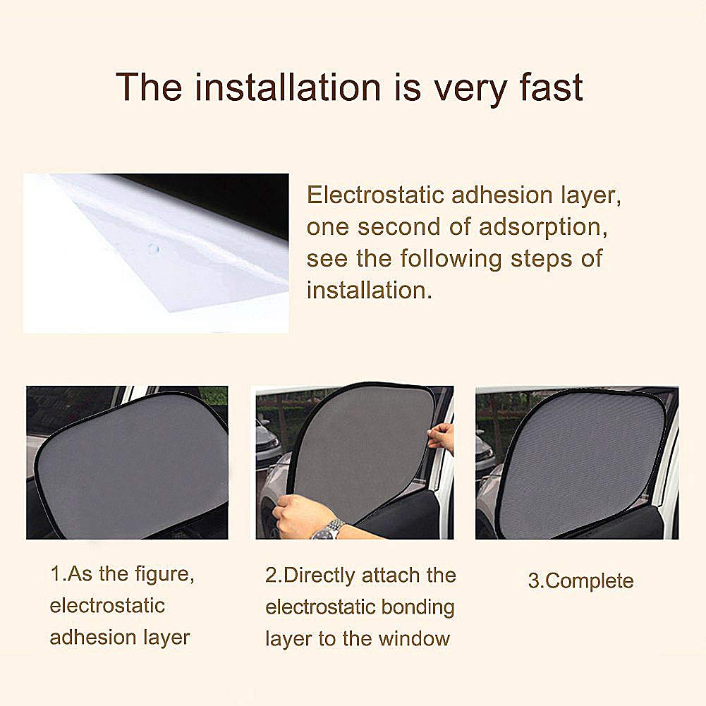 35 CM Suitable for Most Vehicles SenPuSi Car Sun Shades Car Window Shades for Rear and Side Window Car Heat Shield Protect Children Adults Pets from UV Rays 2 Car Window Blinds 44 Elephant