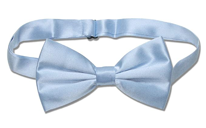 70e9c288f6f3 Image Unavailable. Image not available for. Color: 100% SILK BOWTIE Solid  BABY SKY BLUE Color Men's ...