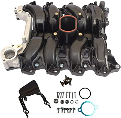 New Intake Manifold w// Thermostat /& Gaskets Kit For Ford Lincoln Mercury 4.6L V8