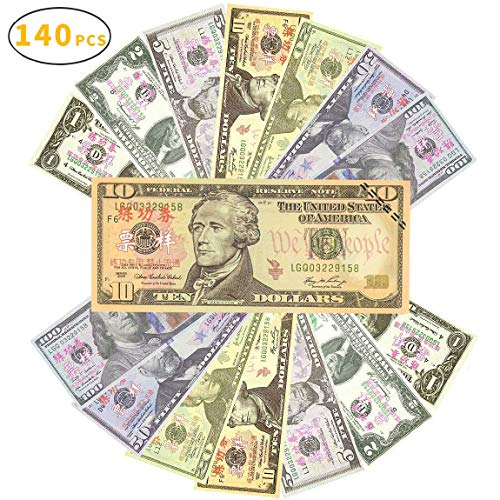 Sopu Prop Money Play Money Movie Game Realistic Play Paper Money Full Print 2 Sided-Set Bills for Kids, Students, TV/ Movie/ Video/ Party/ Games/ Pranks