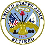 1 Pc Optimum Fashionable United States Army Retired Sticker Sign Outdoor Bumper 1-Side Printed Size 12