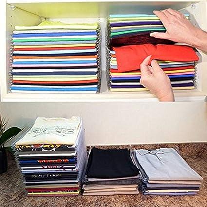 Nšilko Organizador de Armario,Camiseta Carpeta Sistema Antiarruga,tamaño Normal (30PCS): Amazon.es: Hogar