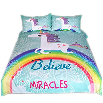 Chaose Allergie Verhindern Bettbezug Set Einhorn Serie Duvet Quilt