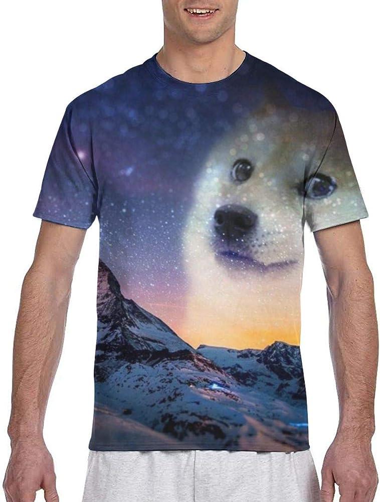 Doge-wallpaper-3-nightsky-1280x720 Camiseta Fresca de Manga Corta para Hombre: Amazon.es: Ropa y accesorios