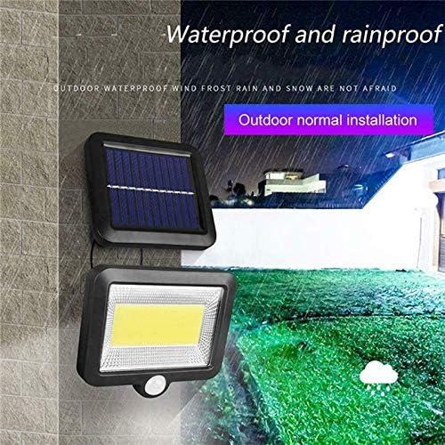 YETE 30W 100 LED /étanche /à l/énergie solaire Split Light avec capteur de mouvement rue Spotlight lampe solaire plein air jardin cour nuit mur