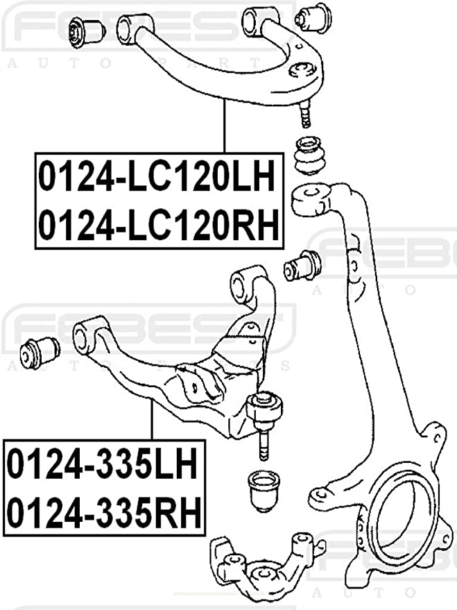 Right Upper Front Arm Febest 0124-LC120RH Oem 48610-60050