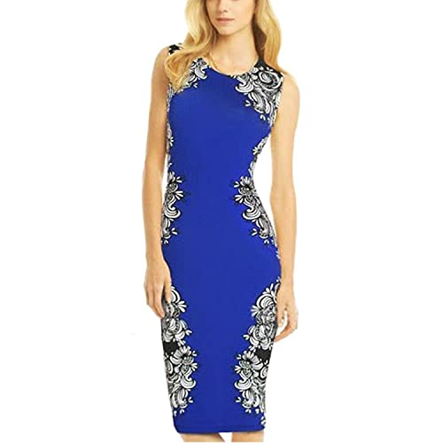 OFTEN® Women's Sleeveless Knee-length Stretch Slim Bodycon Party Dress
