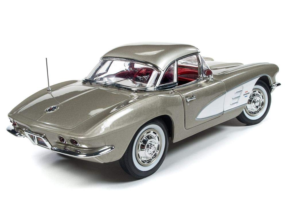 1961 Chevrolet Corvette Hard Top Fawn Beige Muscle Car & Corvette Nationals (MCACN) Limited Edition to 1002 Pieces Worldwide 1/18 Diecast Model Car by Autoworld AMM1151 by Auto World (Image #3)