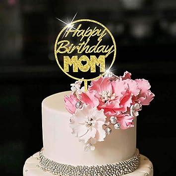 Birthday cake topper Gold Mum Birthday Cake Topper Happy Birthday Mum Cake Topper