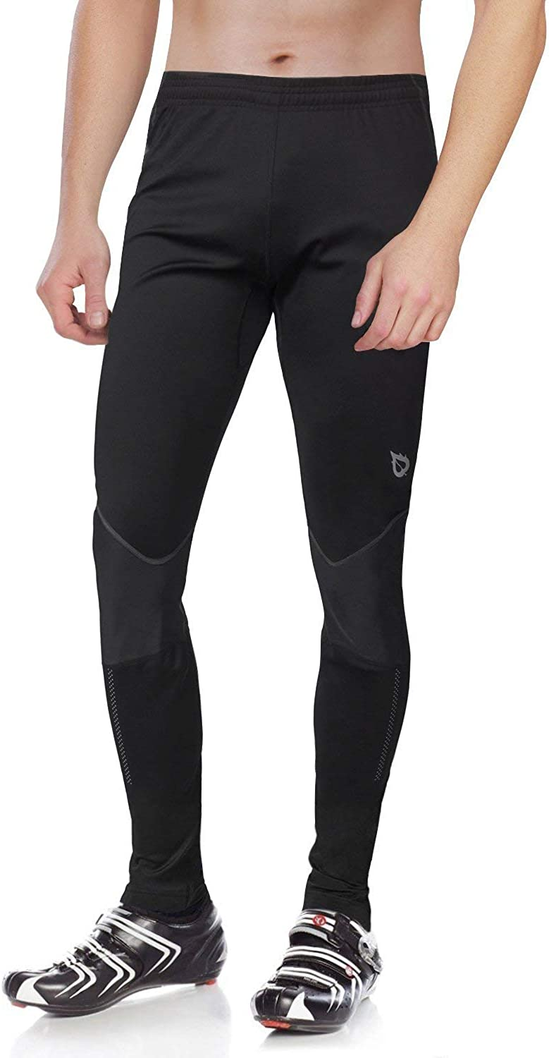 BALEAF Men's Thermal Running Cycling Tights Athletic Outdoor Compression Pants for Bike : Clothing