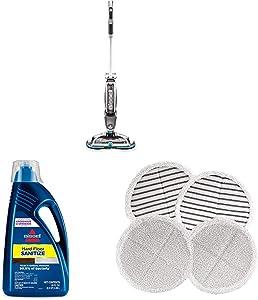 Bissell Spinwave Cordless + Hardfloor Sanitize Formula 80oz + Pads