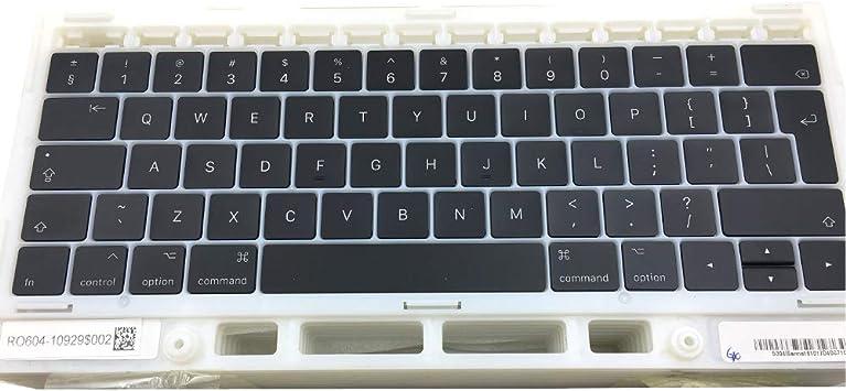 """OLVINS Juego de Tapas de Teclas de Repuesto Teclas del Teclado UK Teclas QWERTY para MacBook Pro Retina 13""""15 A1706 A1707 Teclas UK"""
