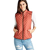 Hollywood Star Fashion Women's Quilted Vest Jacket Coat Sleeveless Padded