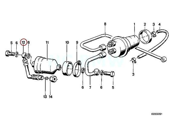 Amazon Com Bmw Genuine Fuel Pipe Automotive