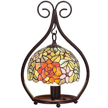 XNCH Lámpara de Mesa de Estilo Tiffany, lámpara de ...