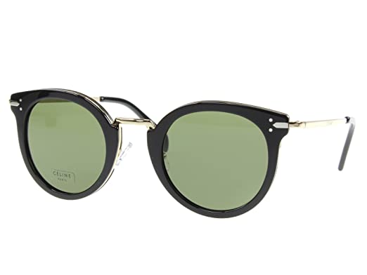 383f30ff2e4 Image Unavailable. Image not available for. Color  Celine 41373 S ANW Black Gold  41373 S Round Sunglasses Lens Category 3 Size