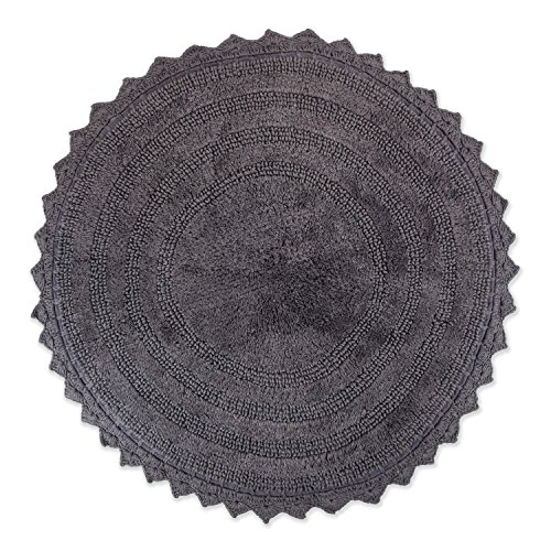 Dii Ultra Soft Spa Cotton Crochet Round Bath Mat Or Rug