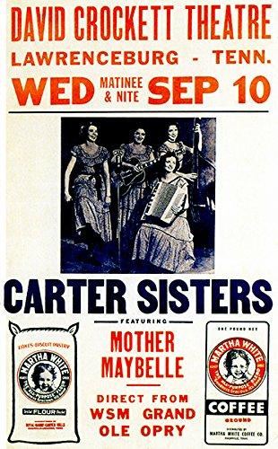 Carter Sisters - Lawrenceburg TN - 1952 - Concert Poster