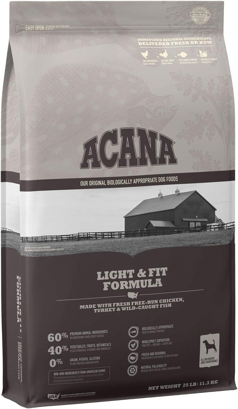 ACANA Dog Light & Fit Protein Rich, Real Meat, Grain Free, Adult Dry Dog Food