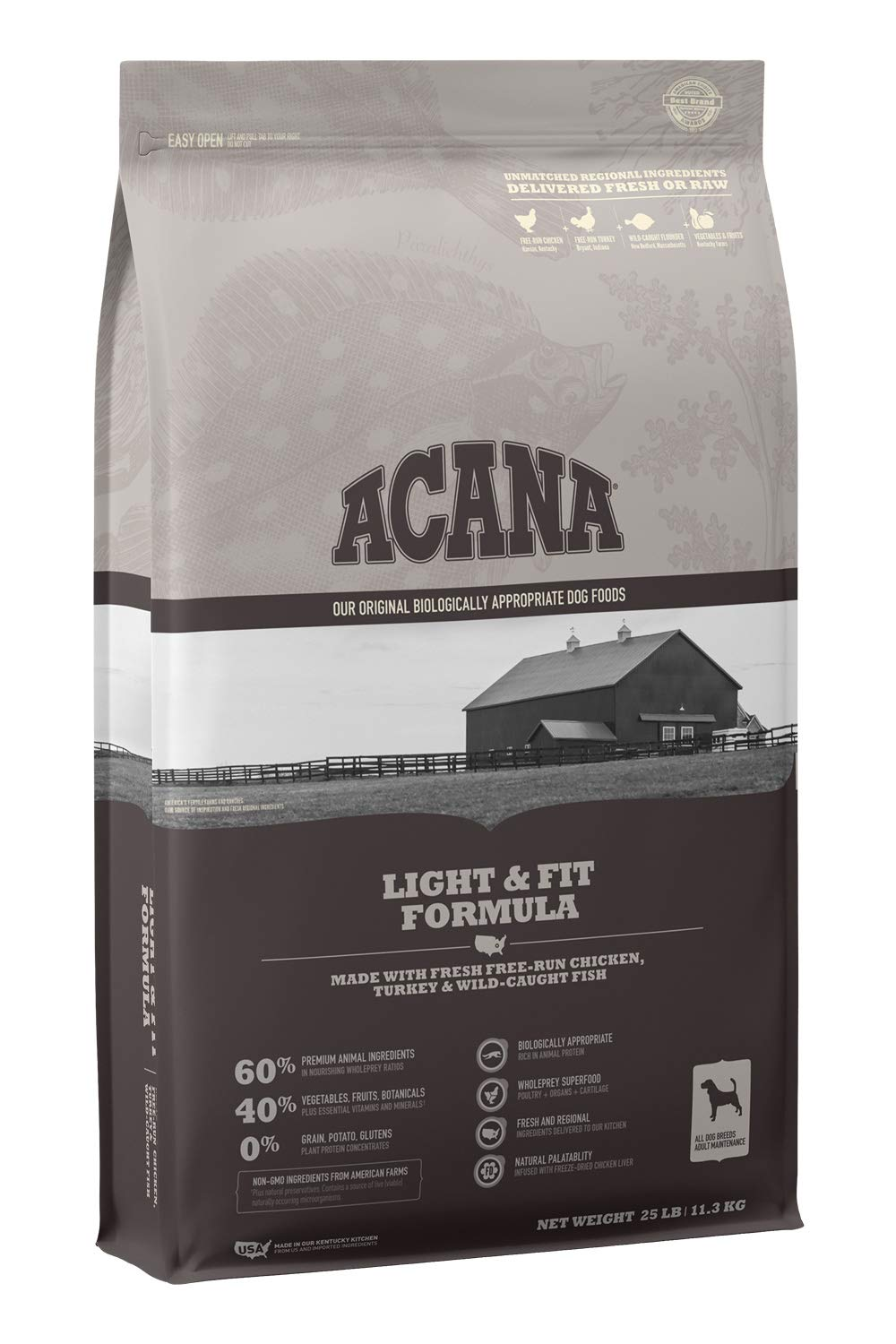 ACANA Heritage Dry Dog Food, Light & Fit, Biologically Appropriate & Grain Free by ACANA