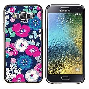 YiPhone /// Prima de resorte delgada de la cubierta del caso de Shell Armor - Blanco Primavera floral pétalo de la flor - Samsung Galaxy E5 E500