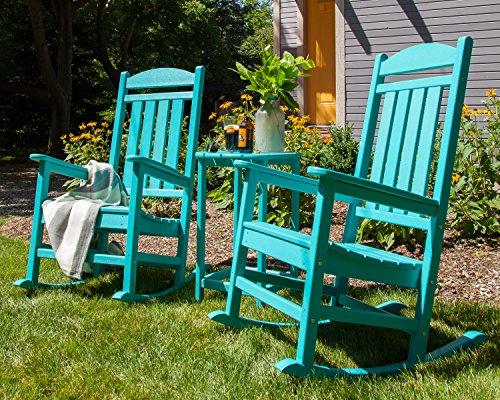 POLYWOOD R100AR Presidential Outdoor Rocking Chair, Aruba للبيع