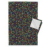 Roostery Tetris Tea Towels Gaming Geek by Spacefem Set of 2 Linen Cotton Tea Towels
