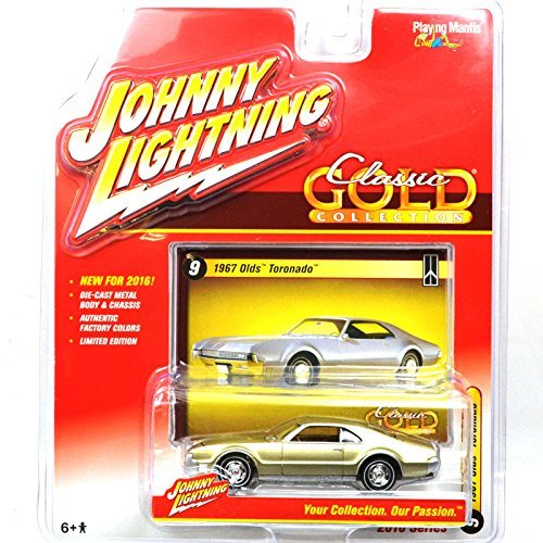 JOHNNY LIGHTNING 1: 64SCALE CLASSIC GOLD COLLECTION 1967 OLDS TORONADO (GOLD) Johnny Lightning one sixty-four scale