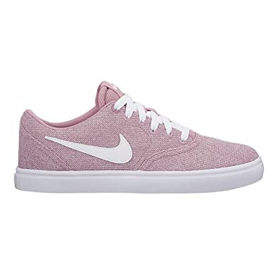 uk store outlet store sale 100% genuine NIKE Womens WMNS SB Check Solarsoft Elemental Pink White Black Size 8.5