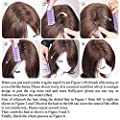Natural Wavy layered Wigs Shoulder Length Hair Kanekalon Fiber multi color hair highlights highlights hair color mixed synthetic wigs with bang wigs for Women (Mix color 3)