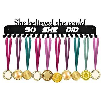 ULwysd Soporte para medallas, Expositor de medallas para más de 40 ...