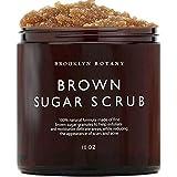Brooklyn Botany Brown Sugar Body Scrub - Great as a Face Scrub & Exfoliating Body Scrub for Acne Scars, Stretch Marks, Foot S